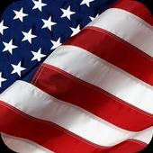 American flag. Live wallpaper icon