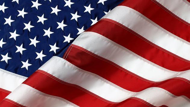 American flag. Live wallpaper poster