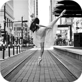 Street art. Ballet. Wallpaper icon