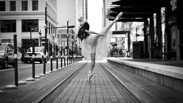 Street art. Ballet. Wallpaper poster