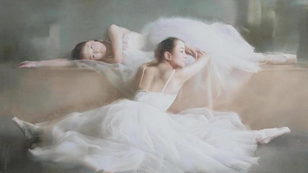 Dance art. Ballet. Wallpaper poster