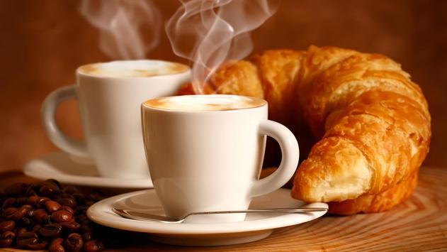 Coffee and croissant. HD LWP screenshot 3