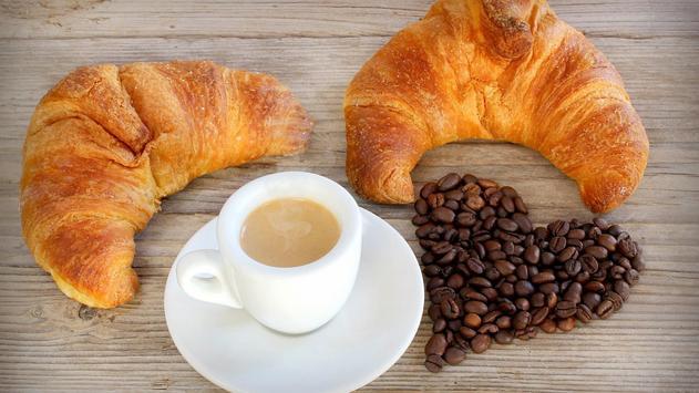 Coffee and croissant. HD LWP screenshot 1
