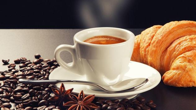 Coffee and croissant. HD LWP screenshot 2