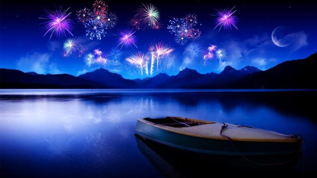 Night fireworks. LiveWallpaper poster