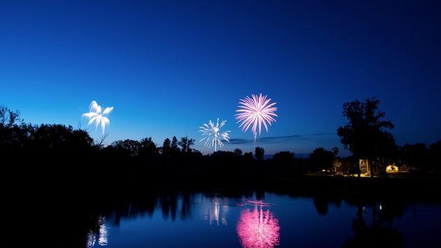 Night fireworks. LiveWallpaper apk screenshot