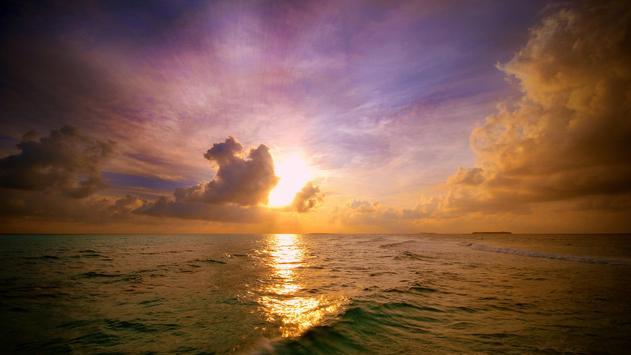 Sun rise in nature. Wallpaper poster