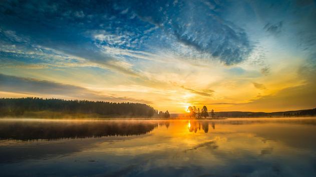 Sun rise in nature. Wallpaper apk screenshot