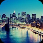 Cities. Brooklyn bridge icon