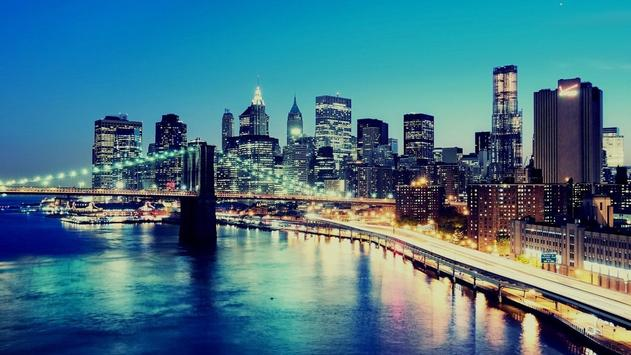 Cities. Brooklyn bridge poster