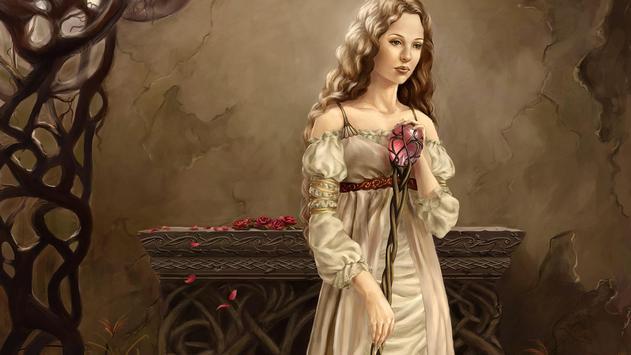 Fantasy girl. Live wallpaper apk screenshot