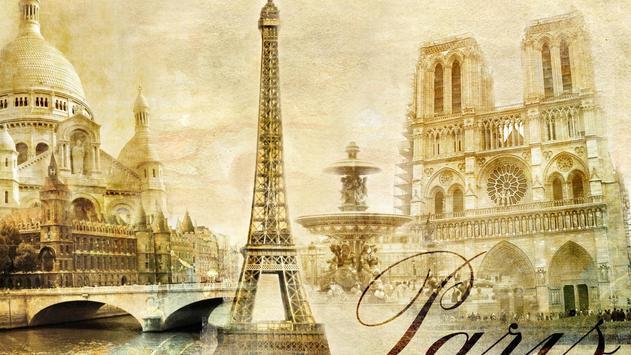 Paris. Vintage tower. LWP poster