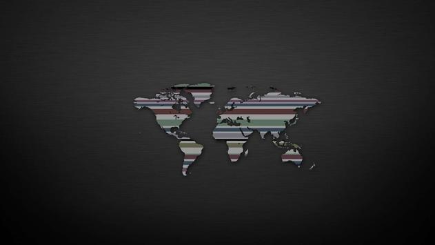 World map. Wallpapers poster