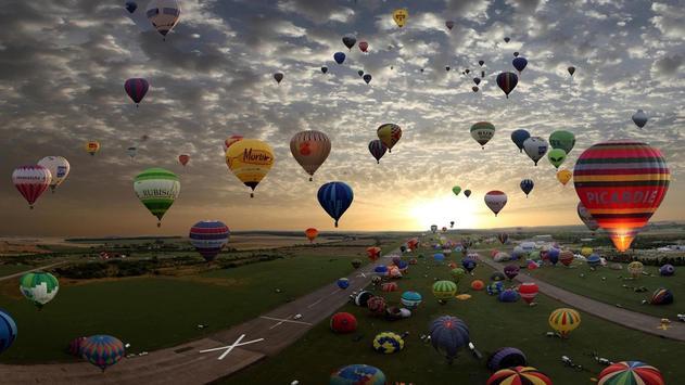 Flying air balloon. Wallpapers screenshot 2