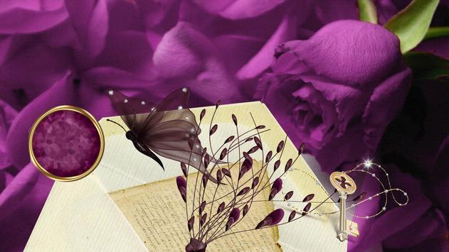 Vintage violet Live wallpapers apk screenshot