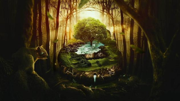 Green planet. Art wallpapers screenshot 1