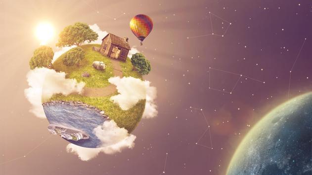 Green planet. Art wallpapers screenshot 2