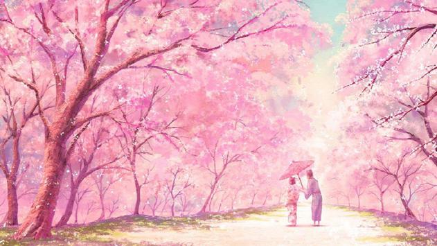 Pink garden. Live wallpapers apk screenshot