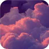 Pink clouds. Live wallpapers icon