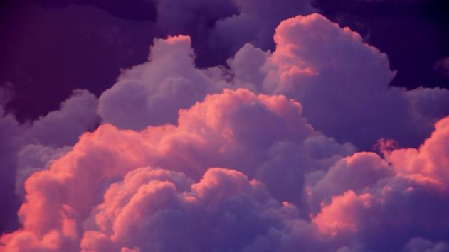 Pink clouds. Live wallpapers poster