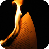 Burning books. Live wallpapers icon
