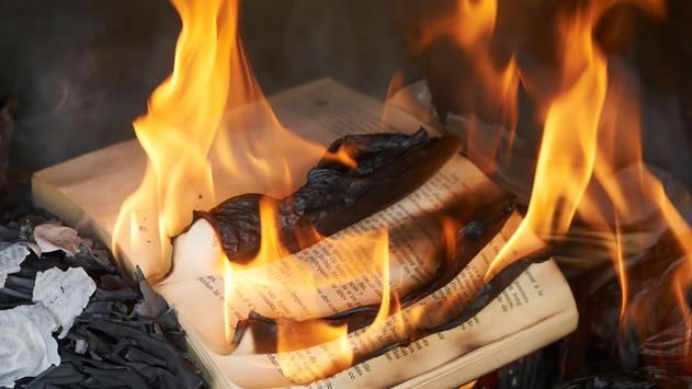 Burning books. Live wallpapers apk screenshot