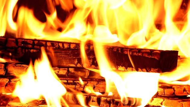 Burning wood. Live wallpapers apk screenshot