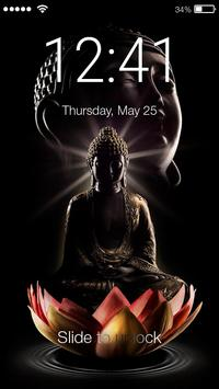 Buddha Meditate Lock Screen poster