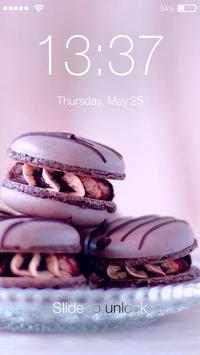 Cute Wallpaper Pastel Macarons Lock Screen poster