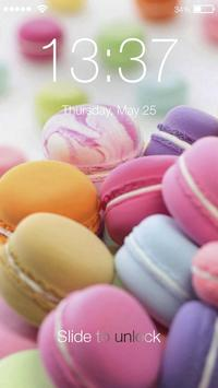 Cute Makaron Lock Screen & AppLock Security poster