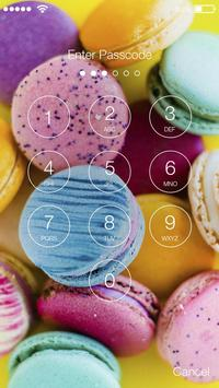 Cute Makaron Lock Screen & AppLock Security screenshot 1