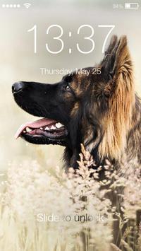 Clever German Shepherd Dog HD Lock Screen poster