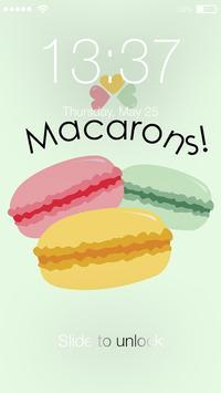 Colorful Sweet Macaron Lock Screen Pass Code poster