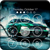 Extreme Car Racing PIN Lock Screen Wallpaper icon