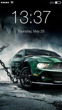Extreme Car Racing PIN Lock Screen Wallpaper poster