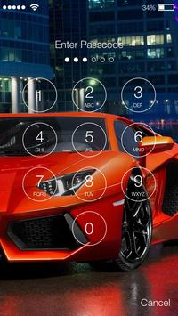 Extreme Car Racing PIN Lock Screen Wallpaper screenshot 1