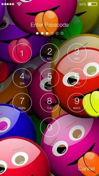 Emoji Lock Screen HD PIN Passcode screenshot 1