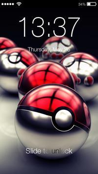 Lock Screen for Pokeball PIN & AppLock Security poster