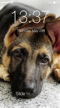 Real German Shepherd PIN HD Lock Screen Keypad poster