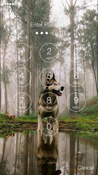Real German Shepherd PIN HD Lock Screen Keypad screenshot 1