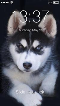 Siberian Husky Puppies Lock & AppLock Security poster