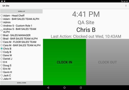 Loaded Reports Timeclock apk screenshot
