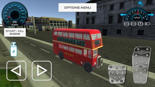 London Double Decker Bus Drive poster