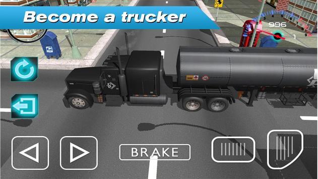 Long Distance Truck Driver 3D poster