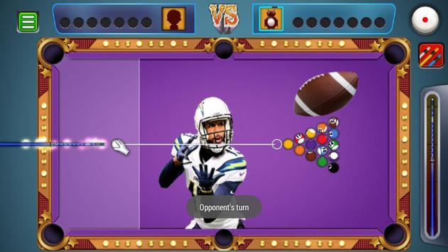 Billiards Los Angeles Chargers Theme screenshot 3