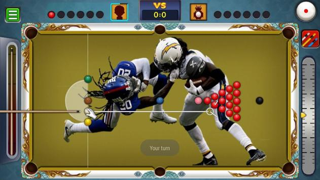 Billiards Los Angeles Chargers Theme poster