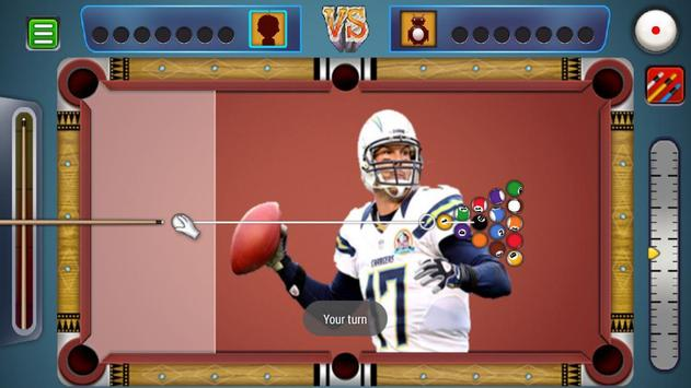 Billiards Los Angeles Chargers Theme screenshot 1