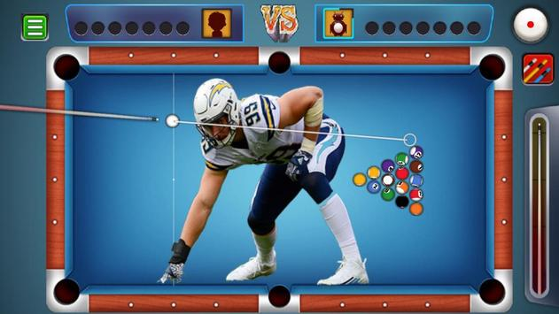 Billiards Los Angeles Chargers Theme screenshot 2