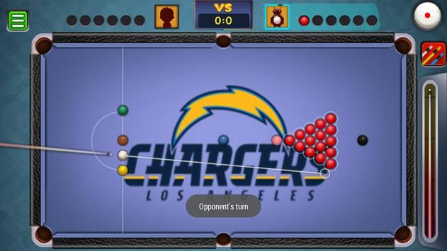 Billiards Los Angeles Chargers Theme screenshot 4