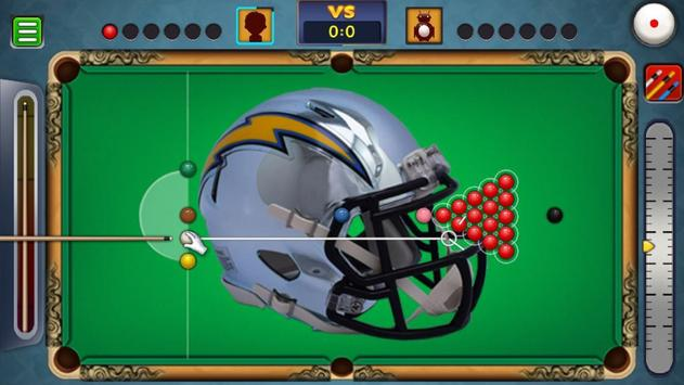 Billiards Los Angeles Chargers Theme screenshot 5